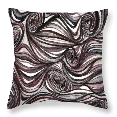 Abstract Prints Throw Pillow featuring the painting Abstract Swirls by Nan Wright