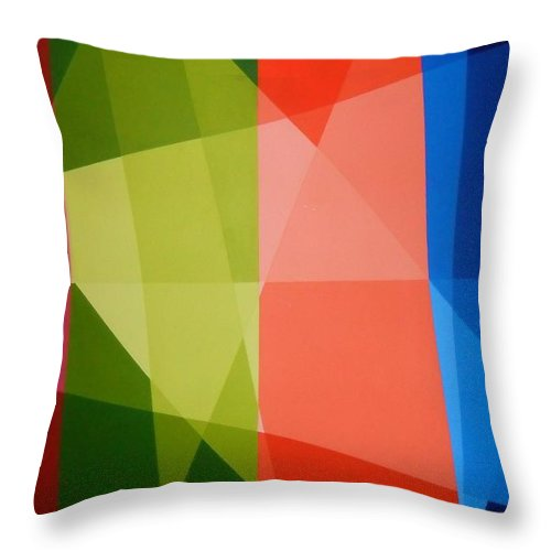 Abstract Throw Pillow featuring the painting Abstract Transparency by Dilia Camacho