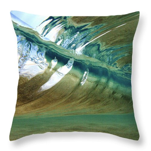Abstract Throw Pillow featuring the photograph Abstract Underwater 2 by Vince Cavataio - Printscapes