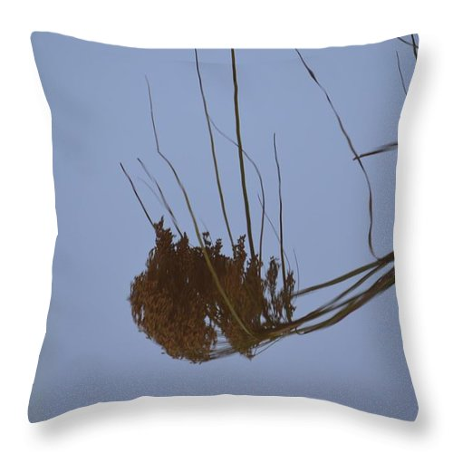 Abstract Water Reflection Throw Pillow featuring the photograph Abstract Water Reflection by Maria Urso