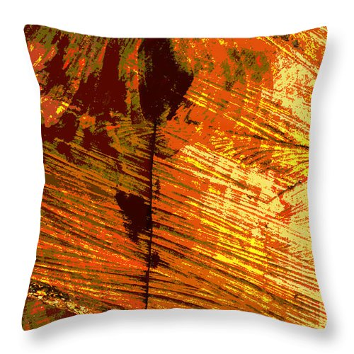 Abstract Throw Pillow featuring the photograph Abstract Wood Grain by John Lautermilch