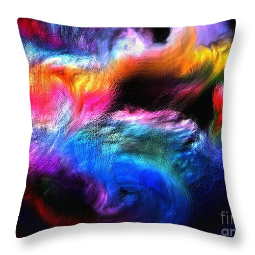 Abstract Throw Pillow featuring the painting Abstractc1 by Sergio B