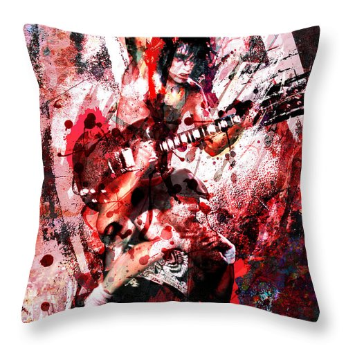 Rock N Roll Throw Pillow featuring the painting Ac Dc Original by Ryan Rock Artist