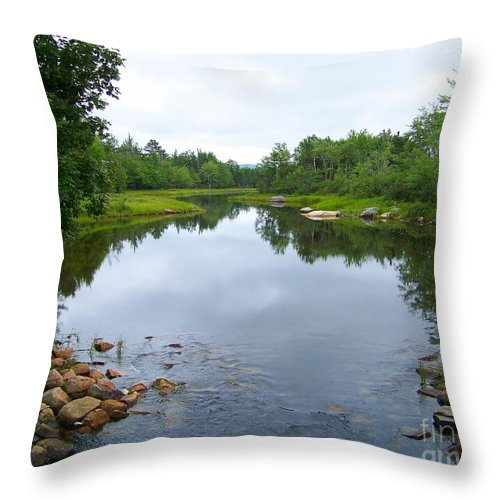 Acadian Stream Throw Pillow featuring the photograph Acadian Stream by Joseph Marquis