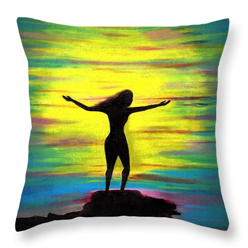 Beautiful Throw Pillow featuring the photograph Accomplished by Artist RiA
