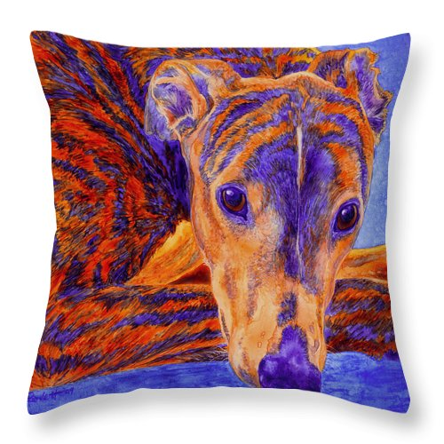 Dog Throw Pillow featuring the painting Ace by Ann Ranlett