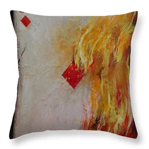 Art Throw Pillow featuring the painting Ace Of Diamonds by Michael Creese