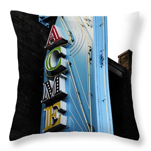 Vancouver Throw Pillow featuring the photograph Acme by The Artist Project