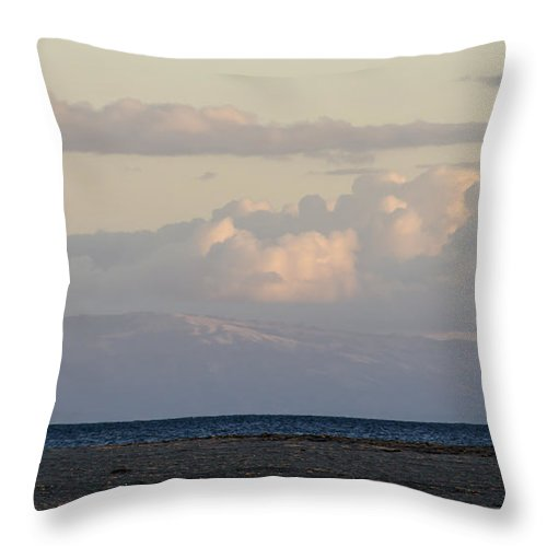 Monterey Bay Throw Pillow featuring the photograph Across The Bay by Bruce Frye