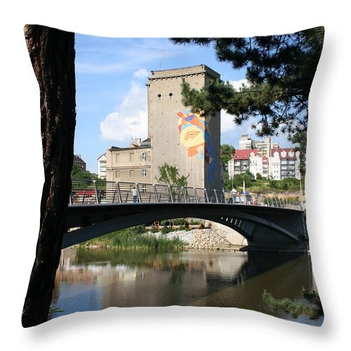 Bunker Throw Pillow featuring the photograph Across The River by Christiane Schulze Art And Photography