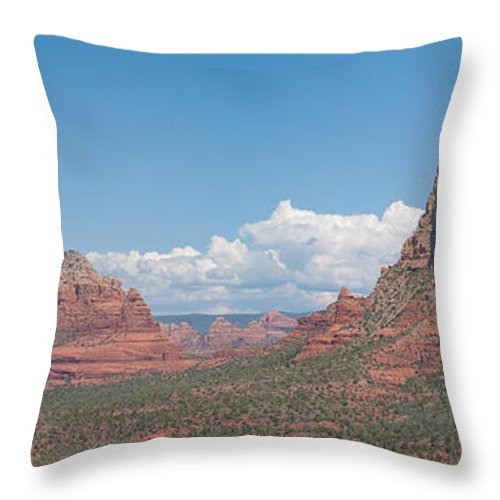 Sedona Throw Pillow featuring the photograph Across The Valley by Joshua House