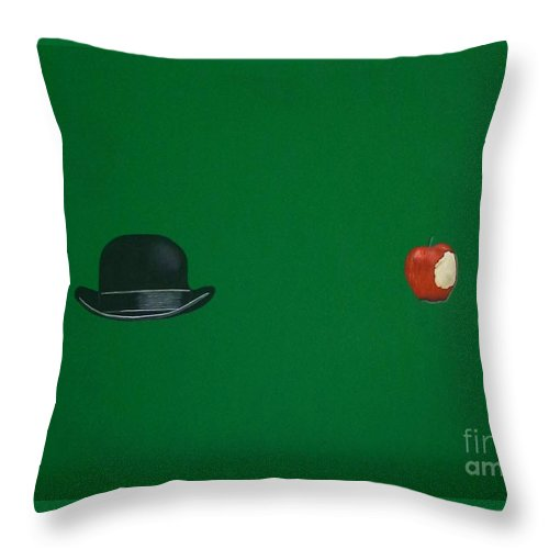 Bowler Hat Throw Pillow featuring the painting Adam And Eve by Venus