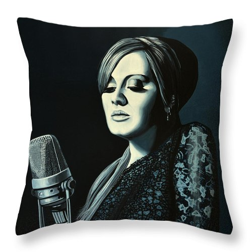 Adele Throw Pillow featuring the painting Adele 2 by Paul Meijering