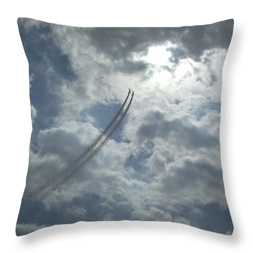 Liverpool Throw Pillow featuring the photograph Aerial Display 2 by Steve Kearns