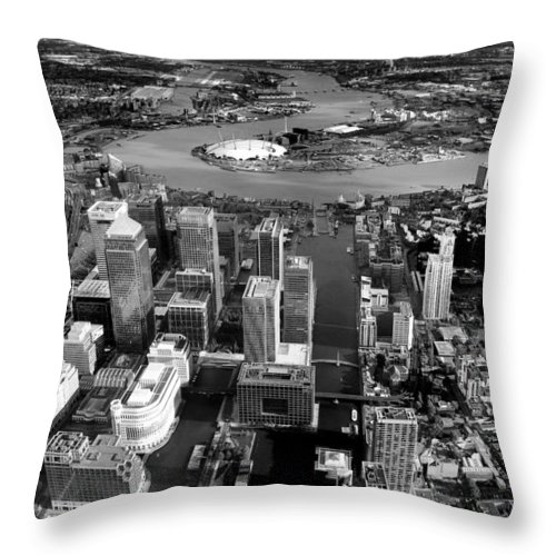 London Throw Pillow featuring the photograph Aerial View Of London 5 by Mark Rogan