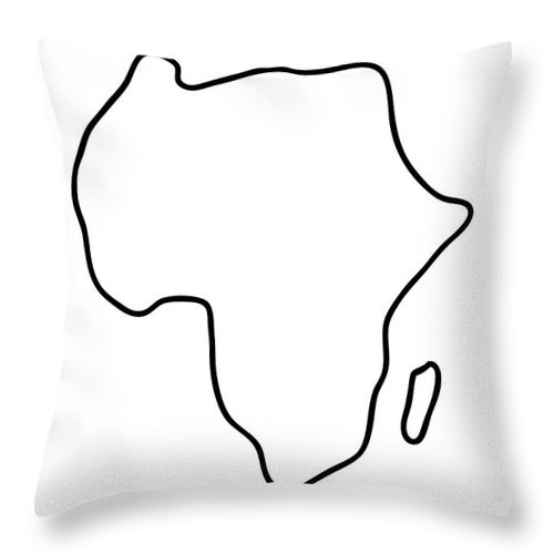 Africa Throw Pillow featuring the drawing Africa African Continent Map by Lineamentum