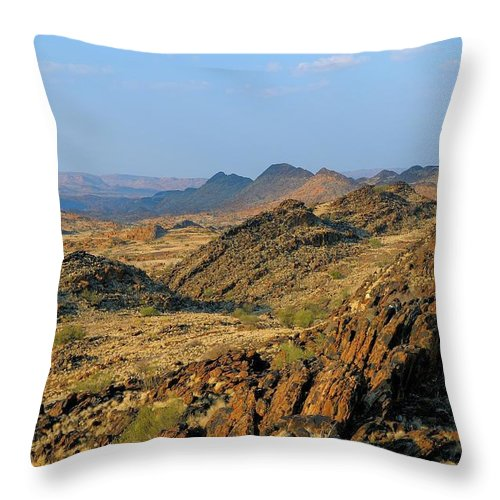 Scenics Throw Pillow featuring the photograph African Scenery by Vittorio Ricci - Italy