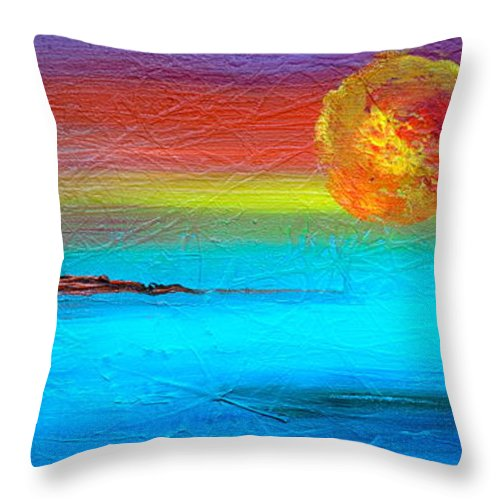 Sunset Throw Pillow featuring the photograph African Son by Jacqueline Athmann