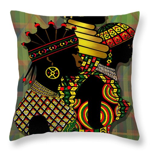 African Women Throw Pillow For Sale By James Mingo