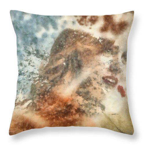 Imagination Throw Pillow featuring the painting After A Moment by Anthony Caruso