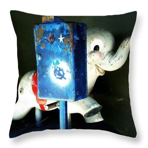 Newel Hunter Throw Pillow featuring the photograph After Dark by Newel Hunter