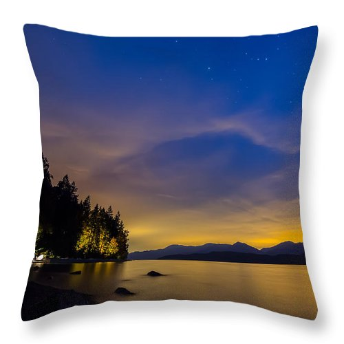 Area Throw Pillow featuring the photograph After Dusk by James Wheeler