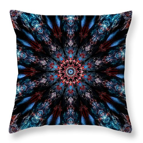 After Throw Pillow featuring the digital art After Midnight by Michael Damiani