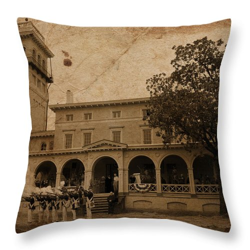 Baltimore Throw Pillow featuring the photograph After The Battle Celebration by W M Dunn