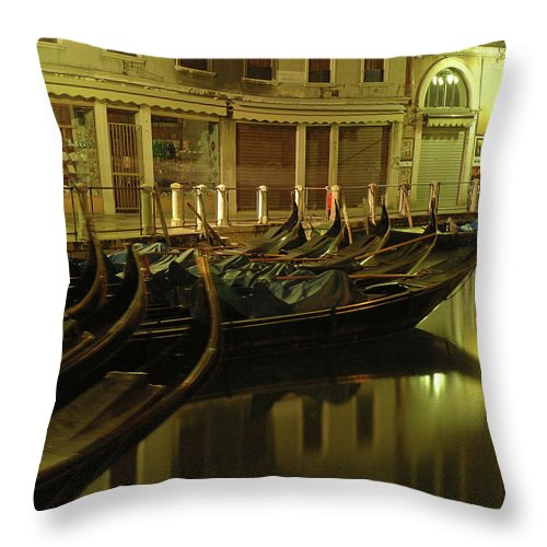 Venice Throw Pillow featuring the photograph After The Romance by George Buxbaum
