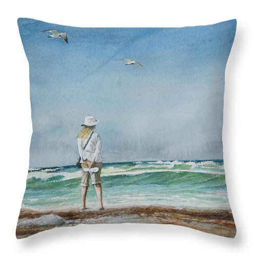 Landscape Throw Pillow featuring the painting After The Storm by Arthur Fix