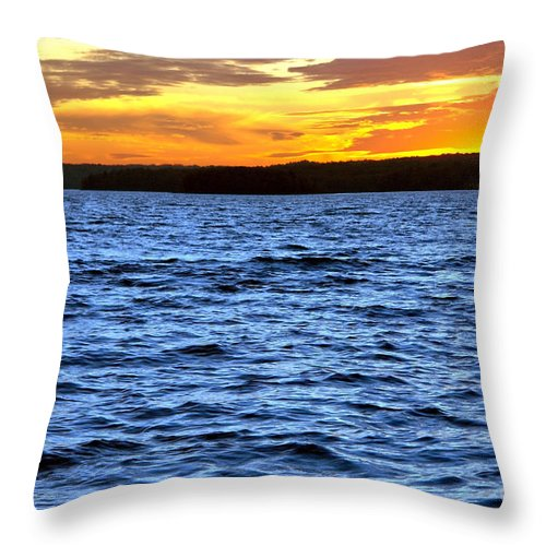 Pennsylvania Throw Pillow featuring the photograph Afterglow by Olivier Le Queinec