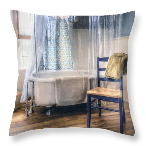 Interior Photography Throw Pillow featuring the photograph Afternoon Bath by Scott Norris
