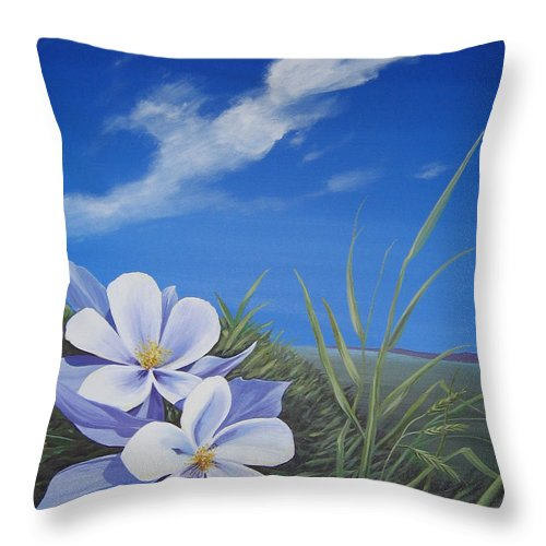 Landscape Throw Pillow featuring the painting Afternoon High by Hunter Jay