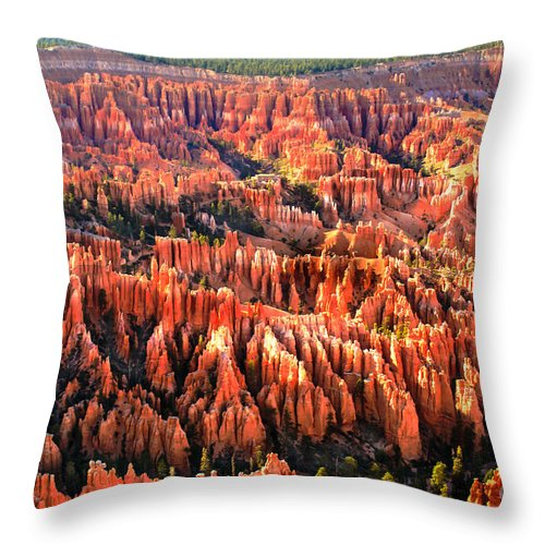 Bryce Canyon Throw Pillow featuring the photograph Afternoon Hoodoos by Robert Bales