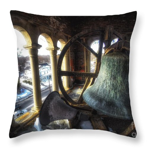 Belfry Throw Pillow featuring the photograph Afternoon In The Belfry by Scott Thorp