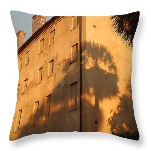 Charleston Throw Pillow featuring the photograph Afternoon Light by Suzanne Gaff
