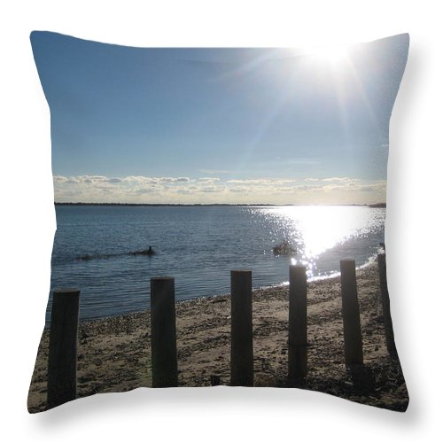 Water Throw Pillow featuring the photograph Afternoon On The Bay by Melissa McCrann