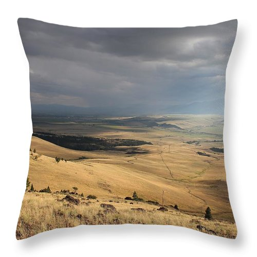 Landscape Throw Pillow featuring the photograph Afternoon Storm by Mark Eisenbeil