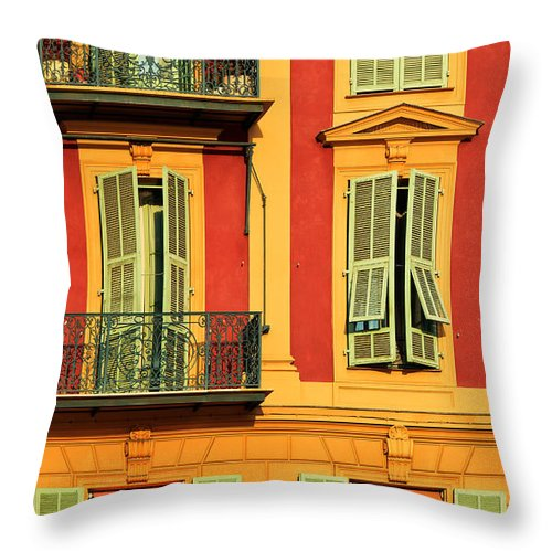 Cote D\'azur Throw Pillow featuring the photograph Afternoon Windows by Inge Johnsson