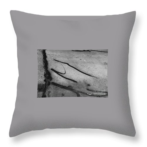 Black And White Photography Throw Pillow featuring the photograph Against All The Odds by Fei A