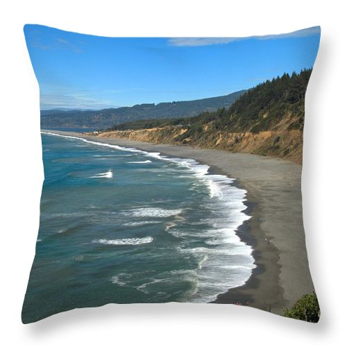 Agate Beach Throw Pillow featuring the photograph Agate Beach At Patricks Point by Adam Jewell