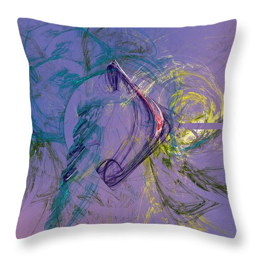 Stochastic Throw Pillow featuring the digital art Agathodaemon by Jeff Iverson