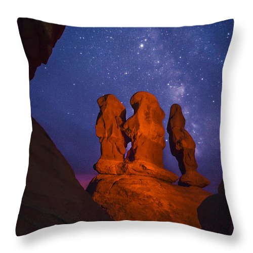 Utah Throw Pillow featuring the photograph Agents Of Atlantis by Dustin LeFevre