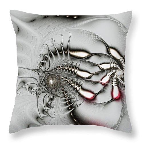 Malakhova Throw Pillow featuring the digital art Aggressive Grey by Anastasiya Malakhova