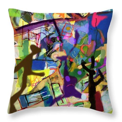 Torah Throw Pillow featuring the digital art Self-renewal 15ab by David Baruch Wolk