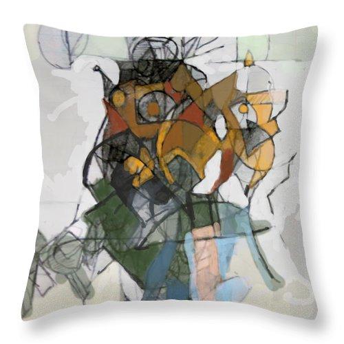 Torah Throw Pillow featuring the digital art Self-renewal 16c by David Baruch Wolk