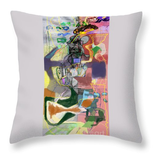 Torah Throw Pillow featuring the digital art Self-renewal 5c8 by David Baruch Wolk