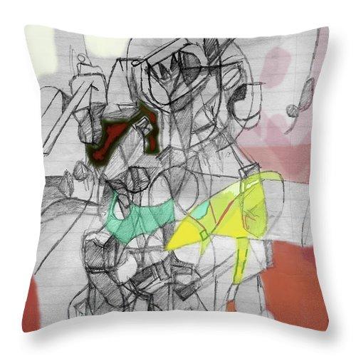 Torah Throw Pillow featuring the digital art Self-renewal 9b by David Baruch Wolk