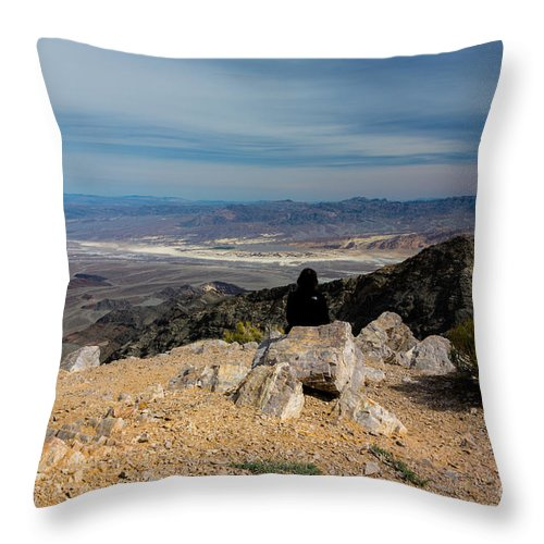 California Throw Pillow featuring the photograph Aguereberry Point View Of Death Valley #4 by Dan Hartford