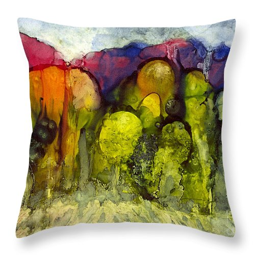 Alcohol Inks Throw Pillow featuring the painting Ai-2 by Francine Dufour Jones